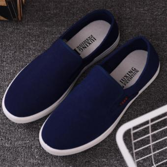 Giày lười vải nam - CV05 (Xanh)