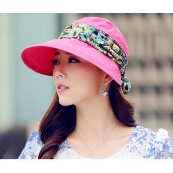 Mũ kèm khẩu trang chống tia UV Chipxinhxk (Hồng Đậm)
