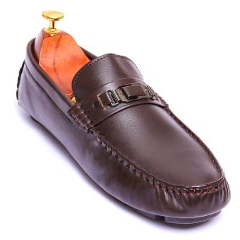 Giày lười nam Da Thật kiểu dáng đơn giản Giày Da Miền Trung VCT016LZD3N-2 (Nâu)