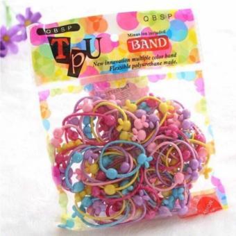 Túi 50 dây buộc tóc nhiều màu cho bé gái