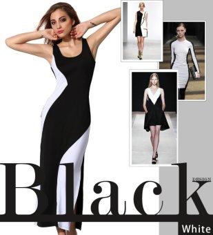 Sunweb Angvns Ladies Women Sexy One Shoulder Stretch Bodycon Asymmetric Hem Package Hip Club Dress ( Black ) - intl