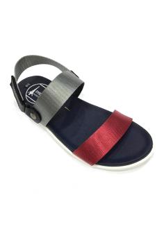 Giày sandal 2 quai ngang đỏ xám Everest E153 D124