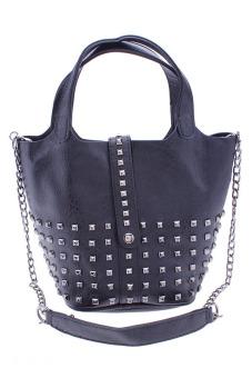 Túi đeo chéo nạm đinh xinh xắn Vinadeal A03 (Đen)