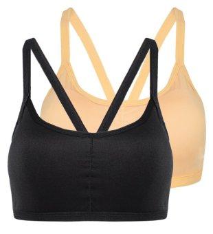 Bộ 2 áo bra quai chéo sexy The ladies GT 247 (Đen da)