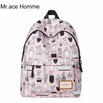 Balo Thời Trang Mr.ace Homme MR16B0292B01 / Hồng phối họa tiết