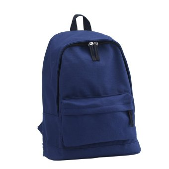 niceEshop Unisex Casual Shoulder Bag Solid Color Backpack (Navy, Canvas) - intl