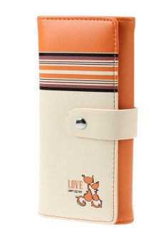 New Fox Women Clutch Card Holder Money Bag Purse (Orange)