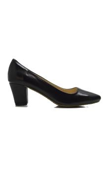Giày nữ mũi vuông gót vuông bọc da 5p 7358D