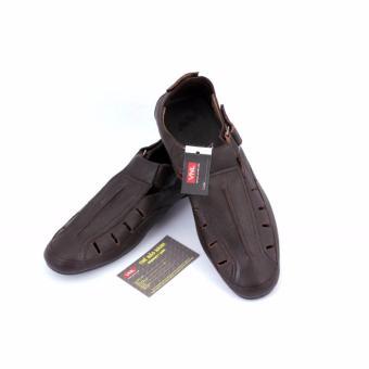 Giày bít sabo nam da thật cao cấp chính hãng Da Giày Việt Nam VNL7AZLM75N-1 ( Nâu )