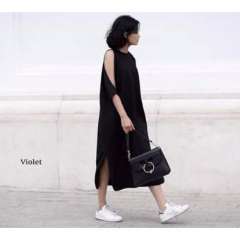 Đầm suông tay dài Xavia Clothes Violet