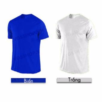 Bộ 2 áo thun LAKA A1418 (Trắng + Xanh biển)