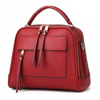 Women Messenger Bag Vintage Bag Tote Shell Bolsas Lady Pouch(red) - intl