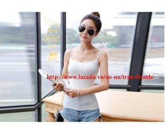 Áo thun hai dây nữ màu trắng thoitrangtrandoanh _ DN1