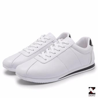 Giày Sneaker Nam Hàn Quốc Z-61201 (Trắng gót đen)