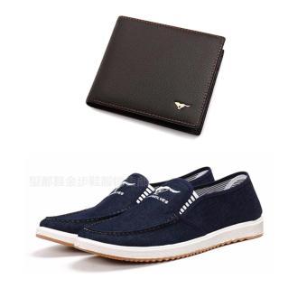Bộ giày lười và ví da năng động DT2440