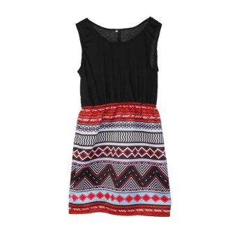 Women Short Sleeve Evening Bodycon Summer Sexy Mini Dress - intl