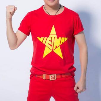 Áo cờ đỏ sao vàng nam Vương Kim Thành ACDSV04NA ( Đỏ )