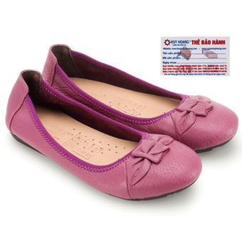 Giày nữ búp bê Huy Hoàng da bò (Tím)