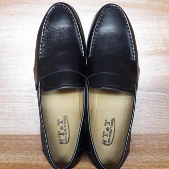 Giày lười công sở da thật thời trang