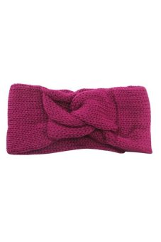 HKS Knitted Turban Twisted Hair Band (Purple) - intl