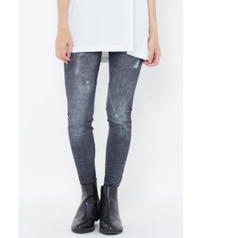 Quần Legging giả jeans TITISHOPVN QDN14(Đen)
