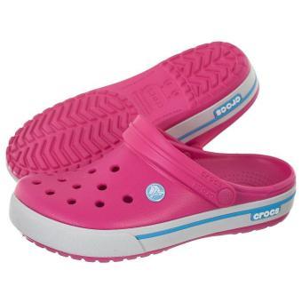 Giày đế bằng nữ CROCS Crocband II.5 Clog Candy Pink/Bluebell 12836-6EF (Hồng)
