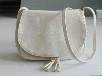 Tassel Women Bag Leather Handbags Cross Body Shoulder Bags Fashion Messenger Bag Women Handbag (Beige) - intl