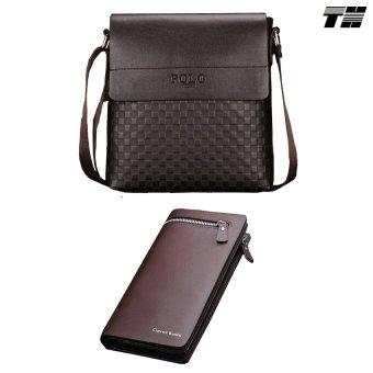 Bộ túi đeo chéo và ví dài nam phong cách THCB10