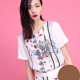 Áo T-Shirt In Hình 4499 BRADA & MAXI (Trắng)
