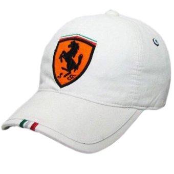Nón kết kaki thể thao logo ngựa (trắng)