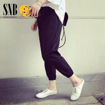 Han edition loose sweatpants 2017 the spring and autumn period and the new female students show thin leisure turnip pants nine points haroun pants joker - intl