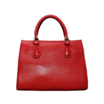 Túi xách nữ da bò thật cao cấp màu đỏ ETM481 ELMI da thật