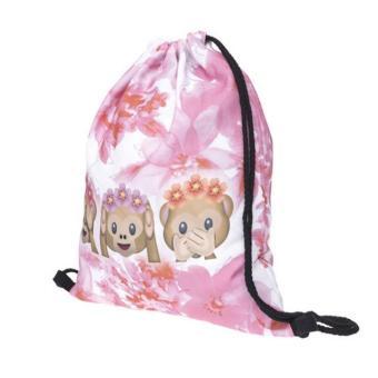 Fashion Unisex Backpacks 3D Printing Bags Drawstring BackpackFree shiping - intl