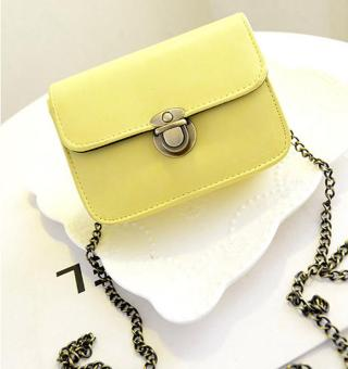 Túi nữ mini nắp cài (Vàng)