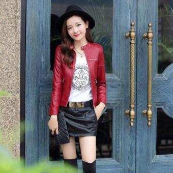 Áo khoác da nữ - AN1 ( Đỏ )