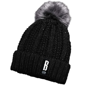 Women Knitted Acrylic Woven Yarn Winter Warm Hat Cap Pom Pom Beanie Winter Hats Christmas New Year Costume Gift Black - intl