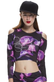 Áo crop-top Dead Lovers ISLA-JELLY (Tím)