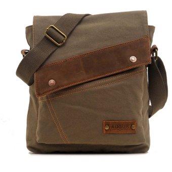 BolehDeals Men's Vintage Canvas Messenger Bag Buckled Shoulder Satchel Bag Army Green - intl