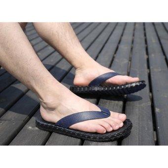 Dép xỏ ngón bãi biển Nam hè 2017 (Xanh, Size 40-44)