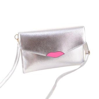 Fashion Casual Women PU Leather Lips Style Envelope Bag Clutch Purse Crossbody Messenger Shoulder Bags (Intl) - Intl - intl