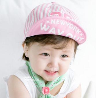 Nón (mũ) lưỡi trai 25 cho bé trai và bé gái mầu kẻ hồng (M18)