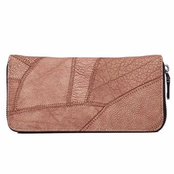 Women Zipper Coin Purse Long Leather Wallet Card Holders Handbag - intl