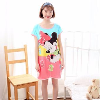 Váy ngủ hoạt hình ngộ nghĩnh ROZALO RWV62201MB-Xanh