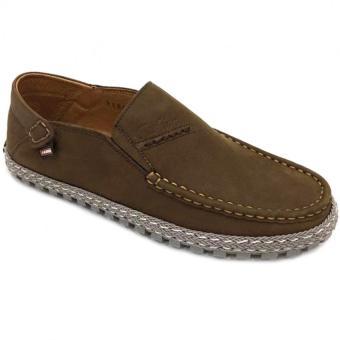 Giày lười da thật nam Everest (Nâu) D116