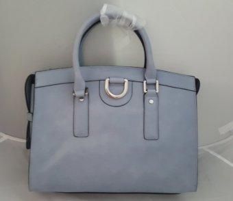 Túi cầm tay da màu xanh có dây đeo vai nữ Emilie M. Jenna Satchel (Mỹ)