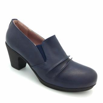 Giày cao gót đế dày Carlo Rino 333010-186-13 (xanh dương)