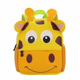 Toddler Kid Children Boy Girl 3D Cartoon Animal Backpack School Bag Rucksack HOT Giraffe pattern - intl