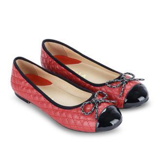 Giày Búp Bê Scala Nơ Nhỏ đỏ