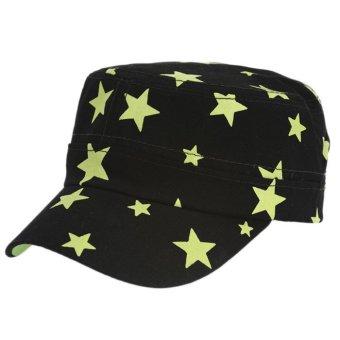 Unisex HipHop Stars Hat Baseball Cap Black