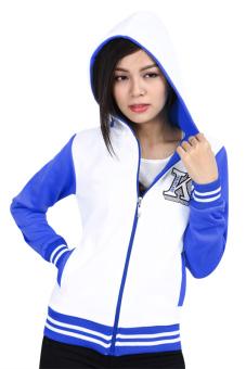 Áo khoác nữ Phúc An 4019 (trắng xanh)